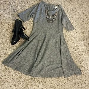 Gray Fit & Flare Dress
